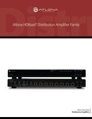Atlona HDBaseT Distribution Amplifier Family
