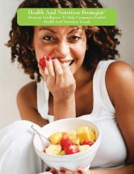 Health and Nutrition Strategist Brochure - Decision Analyst, Inc.