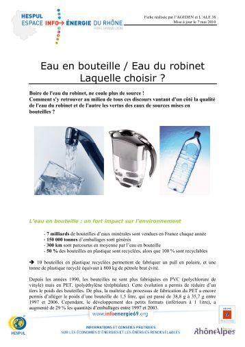 Les eaux en bouteilles sont elles potables l 39 eau dans l - L eau du robinet ou l eau en bouteille ...