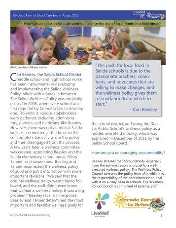 Colorado Farm to School Case Study - August 2012