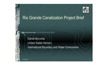 USIBWC Project Brief - International Boundary and Water Commission