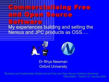 Commercialising Free and Open Source Software - an ... - OSS Watch