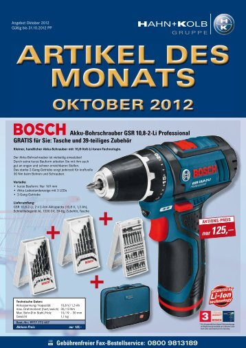 0800 9813189 Akku-Bohrschrauber GSR 10,8-2-Li Professional ...