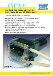 520 FAM, 520 FDM and 520 VBM Heavy duty AC and DC OEM-pumps