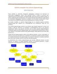 Guide de conception d'un scénario d'apprentissage