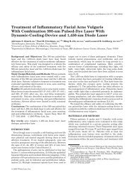 Treatment of inflammatory facial acne vulgaris with combination 595 ...