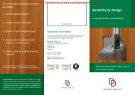 Durability by Design Brochure - Ecobuild Product Search