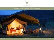 Sanctuary Private Camping, Kenya & Tanzania - Sanctuary Retreats