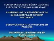 ii jornadas da rede ibérica da carta europeia de turismo sustentável
