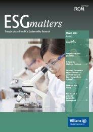 ESG Matters Issue 2 - Allianz Global Investors