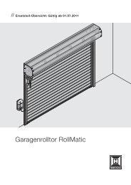 Rolltor RollMatic - Hörmann KG