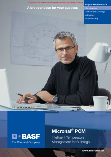 Micronal PCM Brochure - Ecobuild Product Search