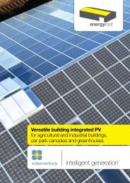 Energy-Roof brochure - Ecobuild Product Search