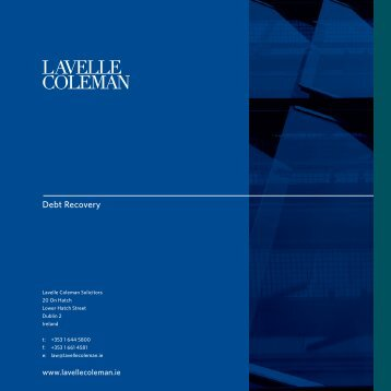 Debt Recovery Brochure - Lavelle Coleman