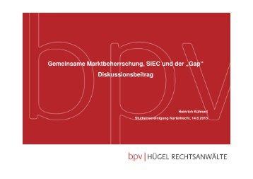 """Gemeinsame Marktbeherrschung, SIEC und der """"Gap"""""""