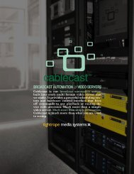 Cablecast Brochure - Sports Video Group