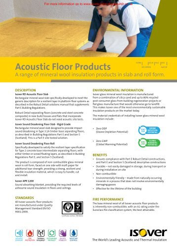 Acoustic Floor Datasheet - Ecobuild Product Search