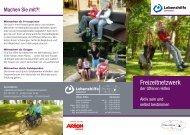 Lebenshilfe Schweinfurt: Infoflyer Freizeitnetzwerk der Offenen Hilfen