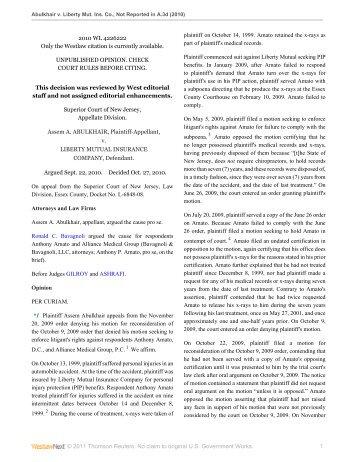 Abulkhair v. Liberty Mut. Ins. Co. - Appellate Law NJ Blog
