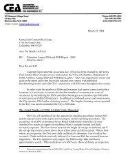 Carpenter Environmental Associates, Review of Columbus Annual ...