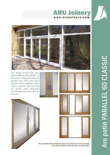 Aru patio PARALLEL 60 CLASSIC - Ecobuild Product Search