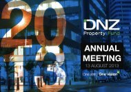 ANNUAL MEETING - DNZ Property Fund