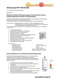 www.golden-energy.de Wärmepumpe RP71-550/150 (AS)