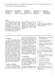 1 Ein kooperatives Vorgehensmodell für die Abwicklung von ... - Maxi