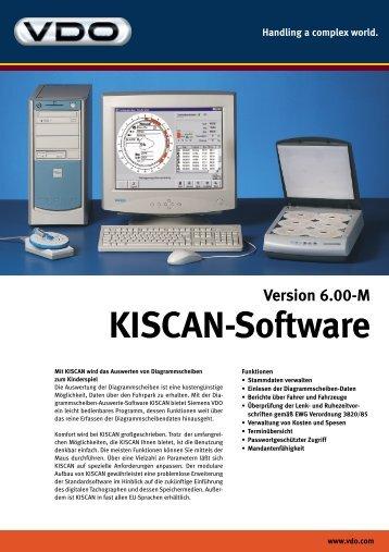 KISCAN-Software Version 6.00-M Handling a complex world. ...