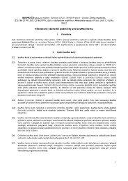 Všeobecné obchodní podmínky pro bauMax kartu