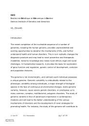 pg 1 of 10 iGE3 Institut de Génétique et Génomique à Genève ...