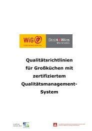 Qualitätsrichtlinien für Großküchen mit zertifiziertem QM-System