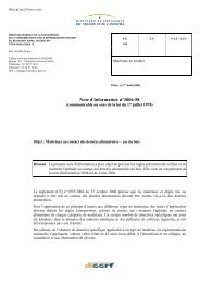 Note d'information n°2006-58 - Contact alimentaire