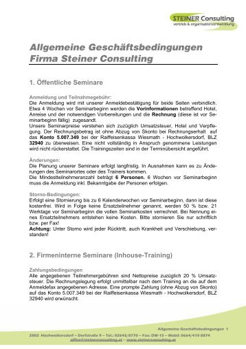 Download AGBs - Steiner Consulting