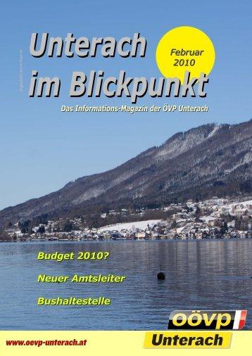 Ausgabe Februar 2010 - (ÖVP) Unterach am Attersee
