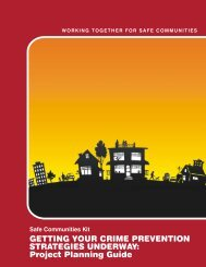Getting Your Crime Prevention Strategies ... - Ministry of Justice