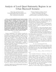Analysis of Local Quasi-Stationarity Regions in an ... - TU Ilmenau