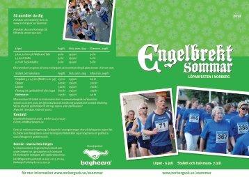 LÖPARFESTEN I NORBERG Löpet - 6 juli Stafett och halvmara- 7 ...