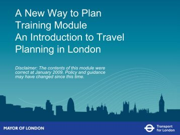 An introduction to travel planning in London