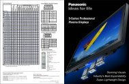 9-Series Professional Plasma Displays - Full Compass