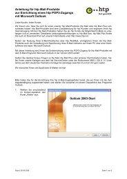 Anleitung für htp Mail-Produkte zur Einrichtung eines htp POP3 ...
