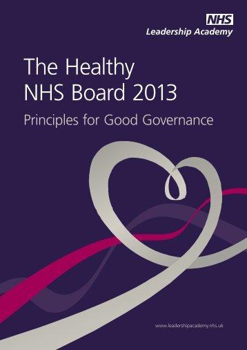 NHSLeadership-HealthyNHSBoard-2013