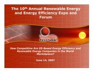 The 10th Annual Renewable Energy and Energy Efficiency Expo ...