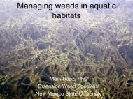 Managing weeds in aquatic habitats - NMSU Weed Information ...