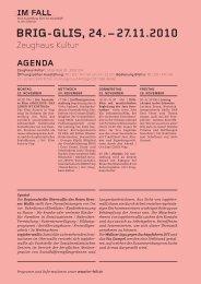 Agenda Brig - Im Fall
