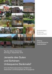 Tag des offenen Denkmals 2013 - Gedenkstättenförderung ...