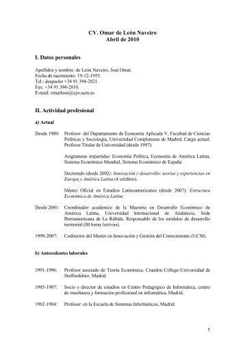 Curriculum Vitae - cedem - UAM