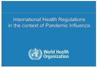 International Health Regulations in the Context of Pandemic Influenza