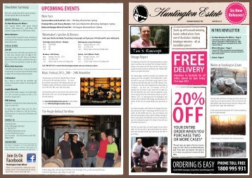 Newsletter - Huntington Estate Wines