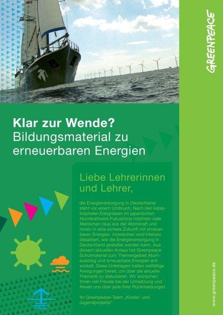 Klar zur Wende? Bildungsmaterial zu erneuerbaren ... - Greenpeace